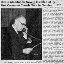 Image of Dial-a-Meditation clipping