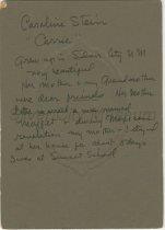 "Image of Verso of ""Caroline Stein"""