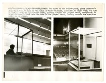 Image of Two Views of the Bullet-Proof Glass Prisoner's Dock