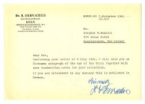 Image of Lavine Collection of Eichmann Materials - Eichmann's Lawyer Concerning Eichmann Autograph