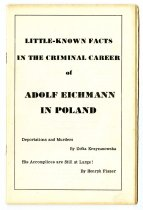 Image of Lavine Collection of Eichmann Materials - Little-Known Facts in the Criminal Career of Adolf Eichmann in Poland
