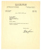 Image of Lavine Collection of Eichmann Materials - Gideon Hausner Letter
