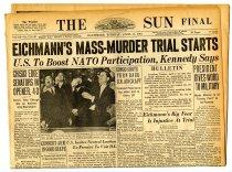 "Image of Lavine Collection of Eichmann Materials - The Sun Final: ""Eichmann's Mass-Murder Trial Starts"""