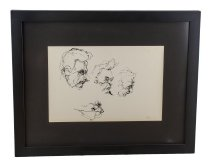 Image of Eichel Collection of Courtroom Drawings - Men Watching