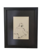 Image of Eichel Collection of Courtroom Drawings - Unknown Man, Sitting