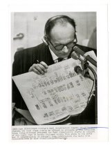 Image of Eichmann Displays Nazi Organization Charts