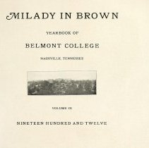 Image of 1912 Milady in Brown Cover