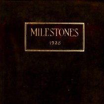 Image of 1925 Milestones Cover