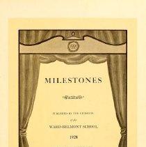 Image of 1928 Milestones