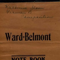 Image of Ward Belmont notebook from 1920s