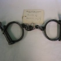 Image of 2009.261.1 - Handcuffs