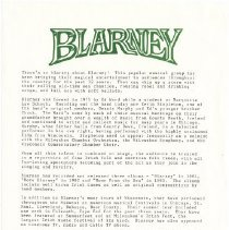 Image of Blarney - Promotional Flyer