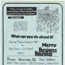 Image of Blarney - Merry Business Roundup Flyer Battle of the Bands