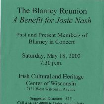 Image of Blarney - Benefit for Josie Nash : The Blarney Reunion