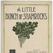 Image of A Little Bunch of Shamrocks (I am Holding in My Hand) - Sheet Music, Large Format