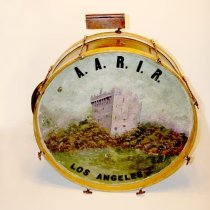 Image of Ludwig Bass Drum with Cymbal, Wood Block, American Association for the Recognition of the Irish Republic (AARIR) - Drum, Bass