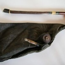 Image of Uilleann Pipe Chanter and Bag - Bagpipe