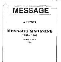 Image of Message Magazine 1989 - 1993