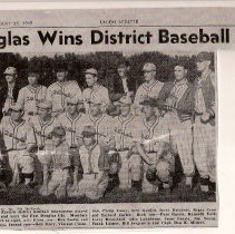 Image of Douglas Wins District Baseball Title - Newspaper Article, Douglas Wins District