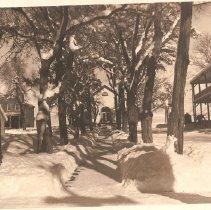 Image of Fort Douglas Post Hall - Photograph, Ft Douglas Snow