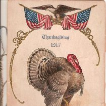 Image of Thanksgiving Menu - 1917 - Menu, Thanksgiving 1917