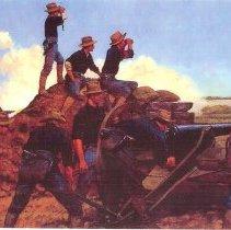 Image of Utah Light Artillery, Spanish American War 1898 - Painting, Spanish American War