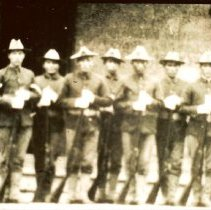 Image of Brule Sioux Indian Soldiers - Photograph, 16th Inf Inspection