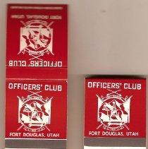 Image of Officers Club Matchbooks - Matchbook, Fort Douglas
