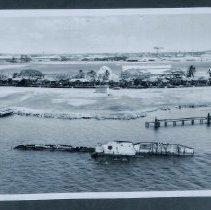 Image of Sinking of USS Utah - Negative, USS Utah