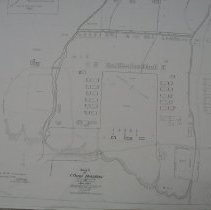 Image of Ground plan of the fort, with an insert showing post burial ground - Map, Cmp Douglas 1864