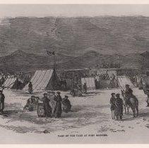 Image of Camp at Fort Bridger - Photograph, Utah War