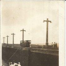 Image of USS Utah in Panama Canal - Postcard, USS Utah