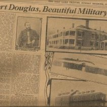 Image of Beautiful Military Post - Newspaper Article, Ft Douglas