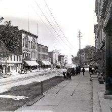 Image of 1966.016.0038 - Glens Falls.  Armory Block, Glen Street.