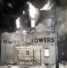 Image of 1976.141.0006 - Fire at Hotel Towers.