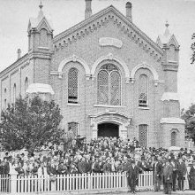 Image of 1977.104.0003 - Adirondack Friends Meeting House, June 5,1878.