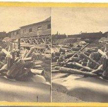 Image of 1977.132.0231 - Logs at Dam