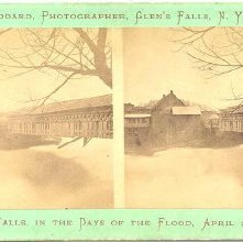 Image of 1977.132.0234 - Glens Falls in the Days of the Flood, April 23, 1869.