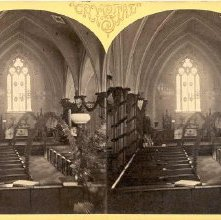 Image of 1977.132.0238 - Interior Church of the Messiah, Glens Falls.