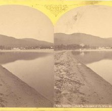 Image of 1977.132.0239 - 1768. Caldwell from Beach east of Ft. Wm. Henry Hotel, Lake Geo.