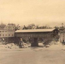 Image of 1977.132.0543 - Covered Bridge at Glens Falls.
