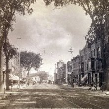 Image of 1977.132.0645 - 526. Glens Falls, Glen Street from the Monument.