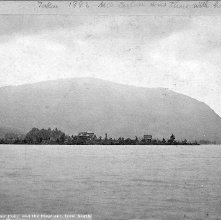 Image of 1977.132.0658 - 332. Lake George - Meadow Point and the Elephant, from North