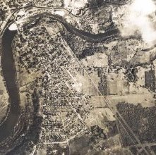 Image of 1977.186.0013 - Aerial shot of South Glens Falls