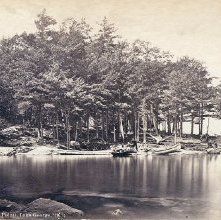 Image of 1977.218.1314 - 298. Camp Andrews (West Point), Lake George, 1879.