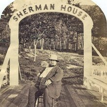 """Image of 1977.218.0142 - 24. """"Good place?  What do you think of me? -only been here a week! Lake George, Aug. 8,1878"""