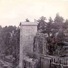 Image of 1977.218.1682 - 871. Wheel House of Au Sable Chasm, Horse Nail Works.