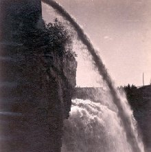 Image of 1977.218.1696 - 373. Au Sable Chasm. Rainbow Falls
