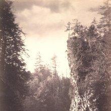 Image of 1977.218.1729 - 382. Pulpit Rock, Au Sable Chasm