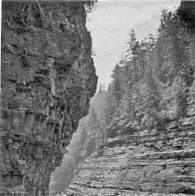 Image of 1977.218.1759 - 391. Au Sable Chasm - Up from Hyde's Cave